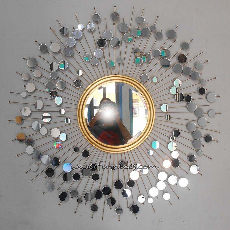 Hiasan Dinding Cermin Matahari