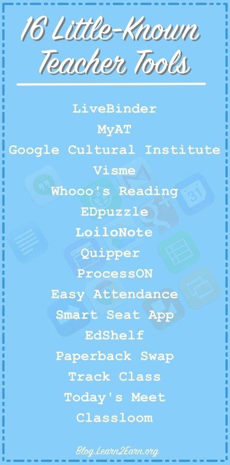 16 Applicazioni poco conosciute per docenti - 16 Little-Known Teacher Tools | Learn2Earn Blog | AulaMagazine Scuola e Tecnologie Didattiche | Scoop.it