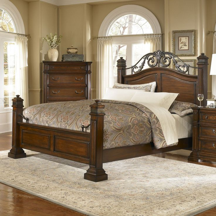 progressive furniture regency poster bed espresso hayneedle - Progressive Furniture