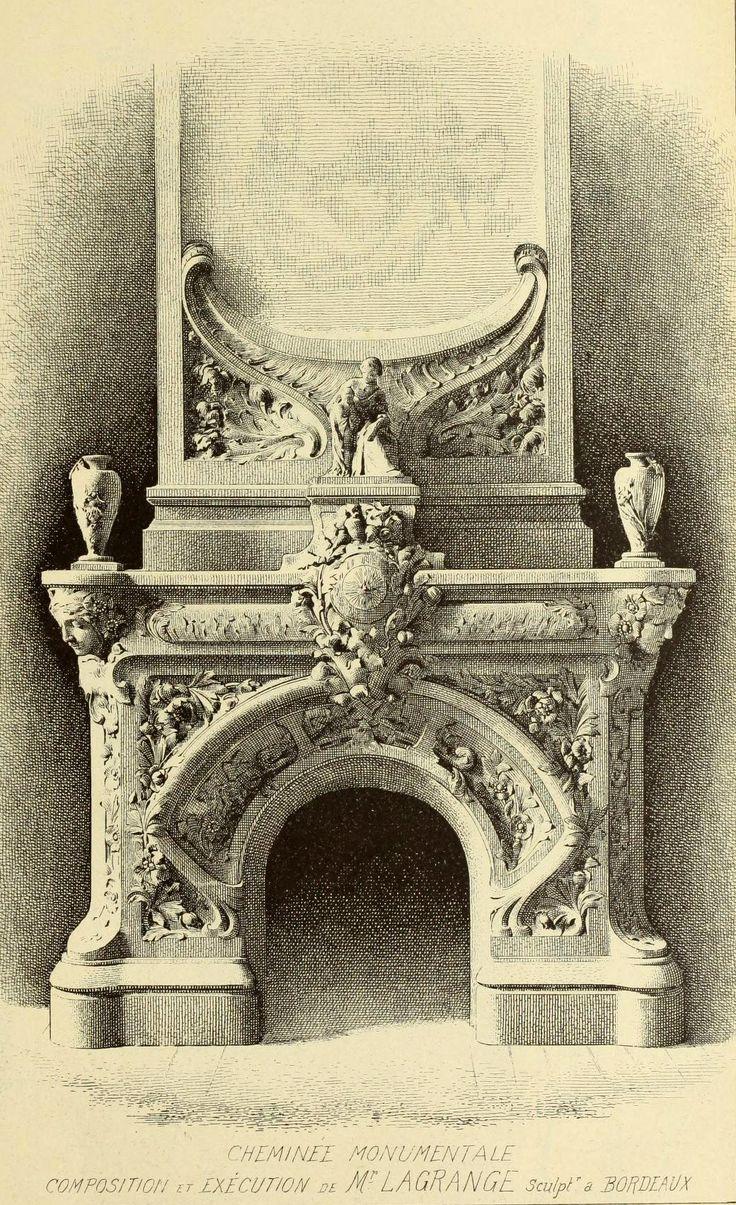 Design For A Monumental Fireplace, Bordeaux