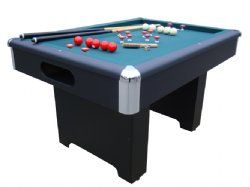Slate Bumper Pool Table in Black by Berner Billiards<br>FREE SHIPPING