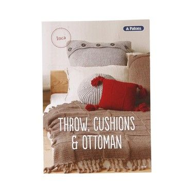 Paton's Knitted Throw & Cushion Inca 0018 White