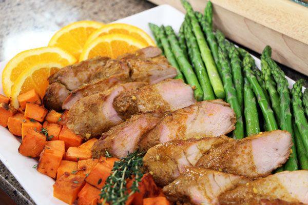 Spiced orange-maple roasted pork tenderloin