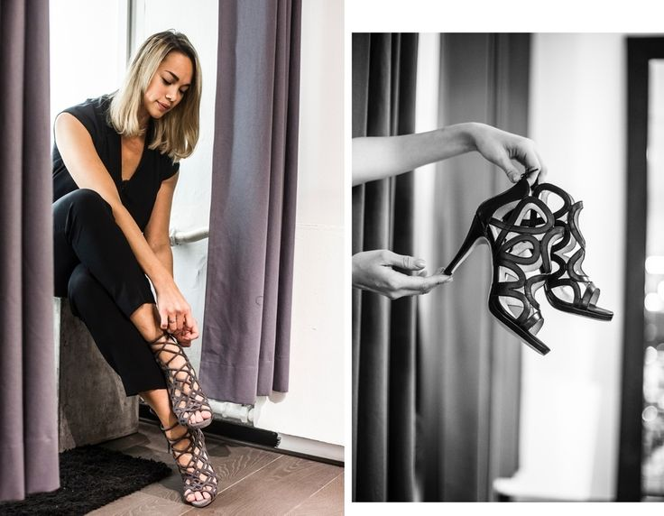 Blogger @kriselda trying Fairytale Suede Grey at @dots_helsinki event Picture Dorit Salutskij