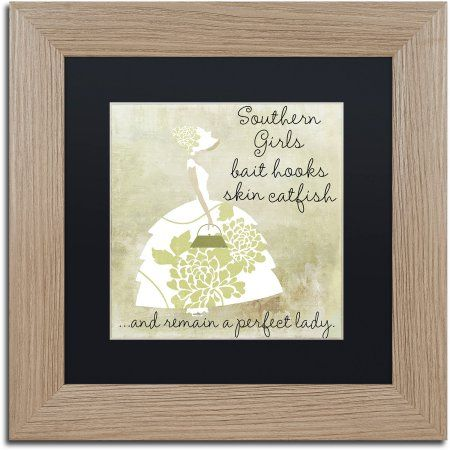 Trademark Fine Art Southern Belles Two Canvas Art by Color Bakery Black Matte, Birch Frame, Beige