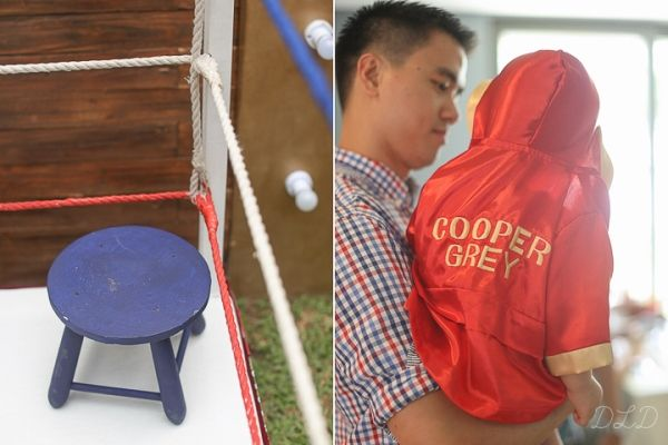 Cooper's Vintage Boxing Themed Party – Photo-op