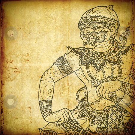 Google Image Result for http://watermarked.cutcaster.com/cutcaster-photo-800975518-Traditional-Thai-art-in-Ramayana-literature-the-old-paper.jpg