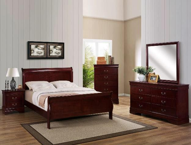 JMD Furniture's Fourth of July sale is happening right now! 12 Pc Bedroom Set with Mattress for only $540. 12 pieces include Dresser Mirror Headbord Footboard 2 rails 2 slats also comes with a mattress box spring and 2 pillows. Chest is $200 extra and nightstands are $100. King is $350 additional.  #masterbedroom #bedset #greatdeal #fourthofjulysale