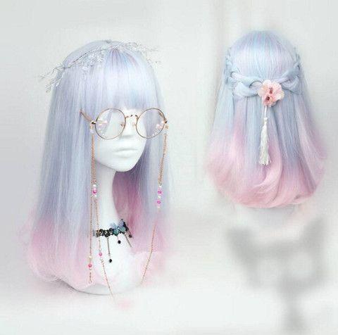 Japanese kawaii cosplay gradient lolita wigs