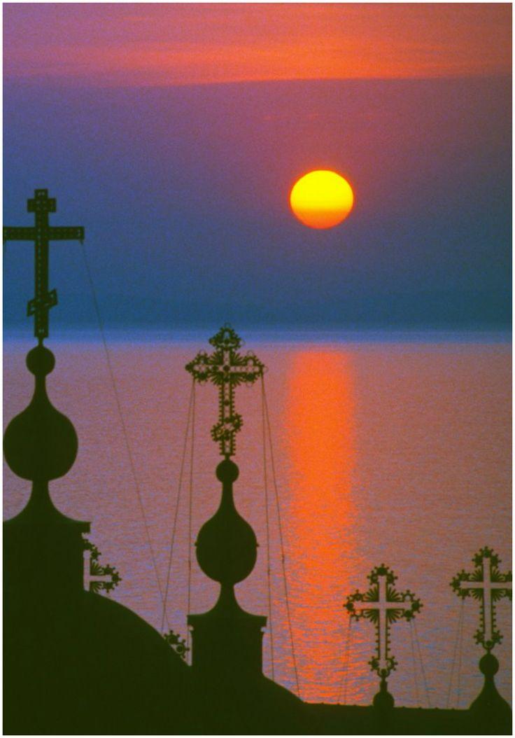 ηλιοβασίλεμα, Ι,Μ, Παντελεήμονα- sunset, Panteleimona Monastery, Mount Athos, Greece