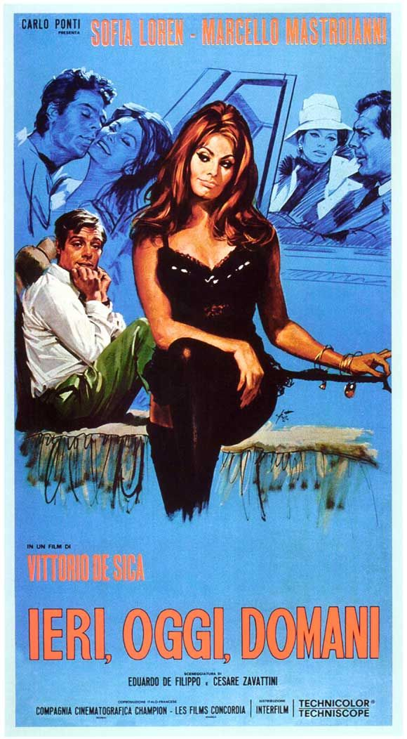 Ieri, oggi, domani (Yesterday, Today and Tomorrow) - Vittorio De Sica - 1963 - starring Sophia Loren and Marcello Mastroianni