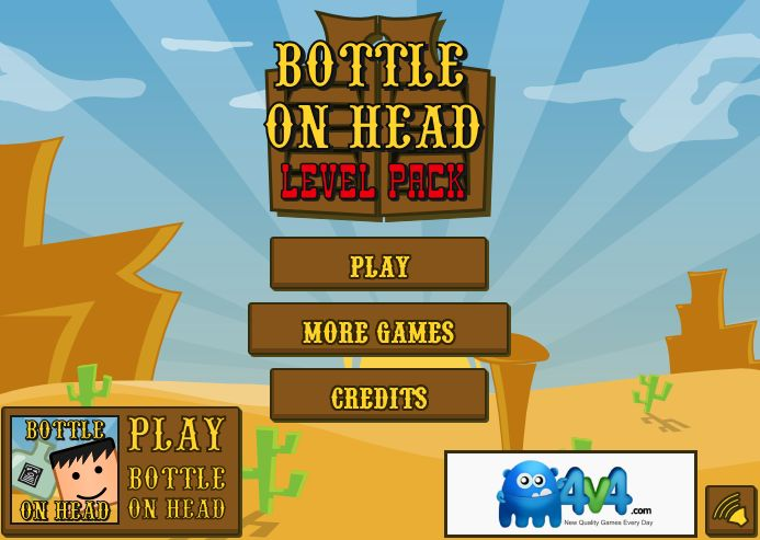Play #BottleOnHeadLevelPack. Continue the shooting adventure!