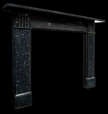 Victorian black marble fire surround