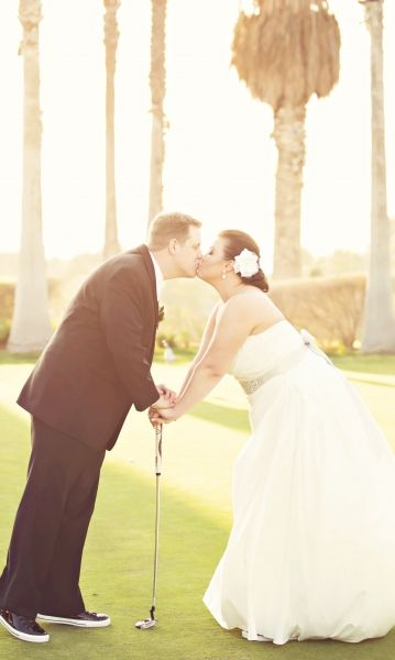Cute Wedding Pic With Their Golf Club Course Photographer Country