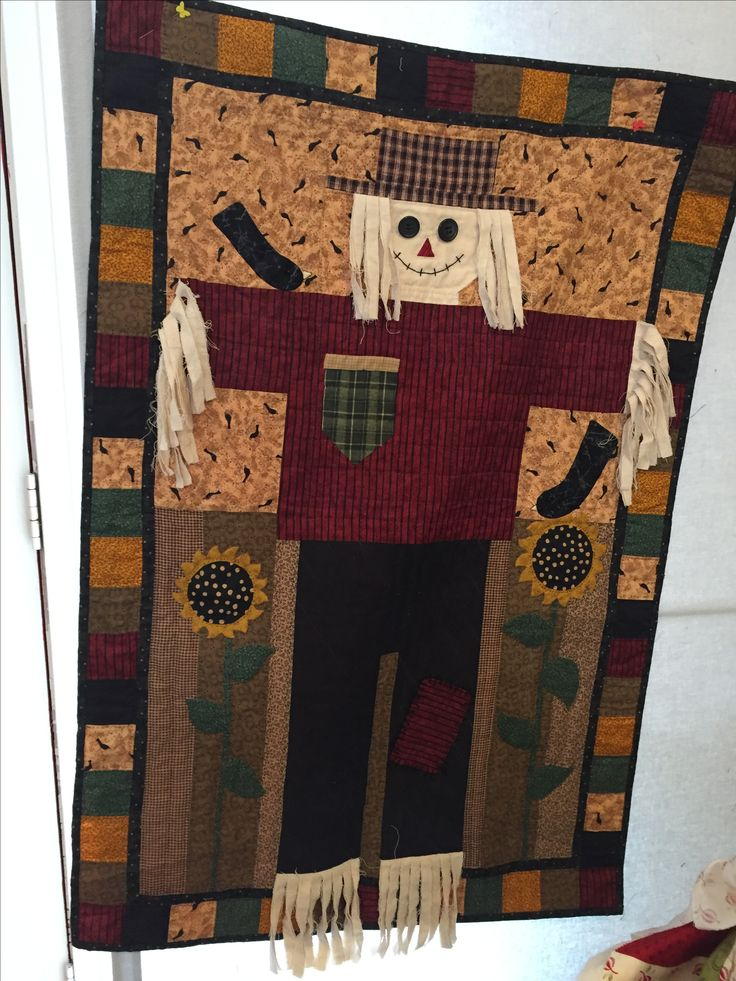 Fall scarecrow wall hanging made 1995