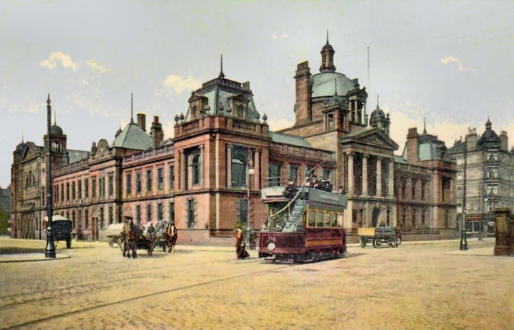 c. 1905: Govan Town Hall. Although Govan was annexed by Glasgow in 1912, the building continued to be used for decades thereafter.