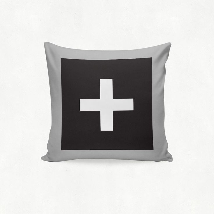 IMIMAH #Scandanavian inspired statement cross outdoor cushion in black & grey - $38 + pp - from IMIMAH.co. #cushions #pillows #livingroom #decor #homewear #homespo #mint #grey #cross #crosses #plus