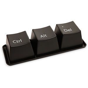 Ctrl-Alt-Delete Cup Set $8 thinkgeek