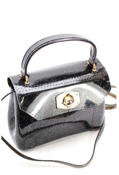 Black Glitter Jelly Bag / Purse $39.99 view it at fuschia.co.nz