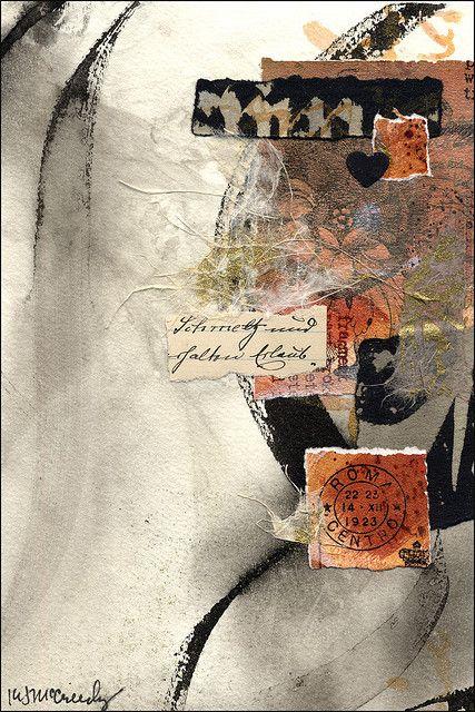 Judy Melvin workshop, collage artwork by Kathy McCreedy, via Flickr
