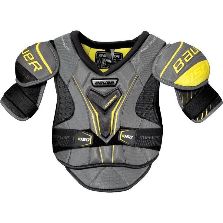 Bauer Senior Supreme 150 Ice Hockey Shoulder Pads, Gray