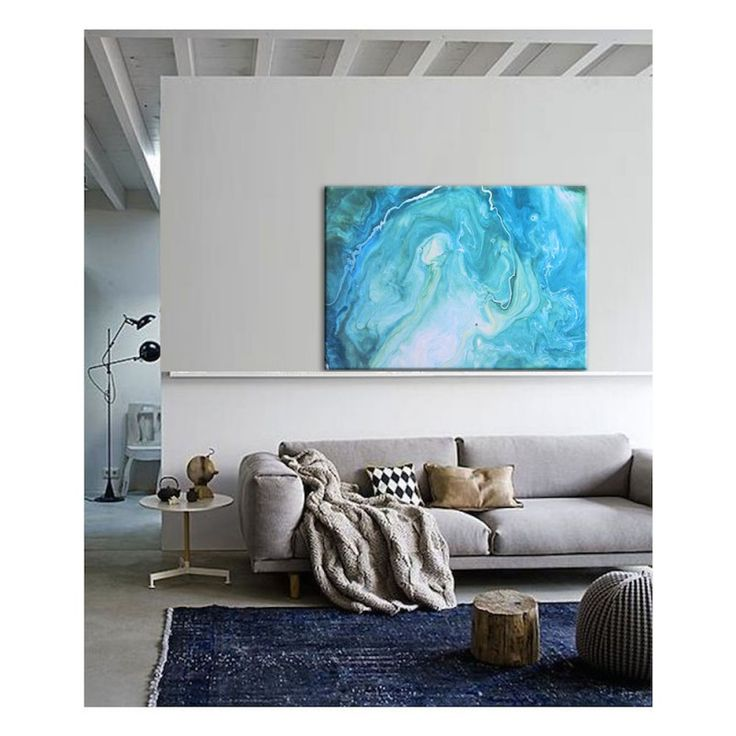 Marbled Blu | Canvas Print | Various SizesThe Block Shop - Channel 9
