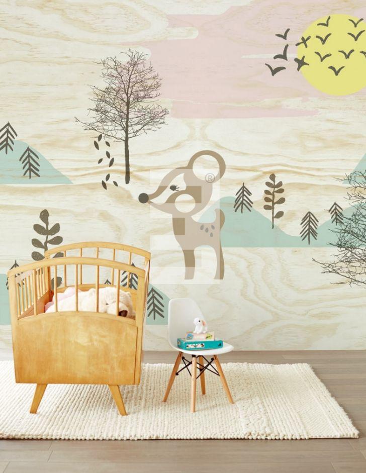Papeles Pintados para niños inspirados en el bosque - DecoPeques