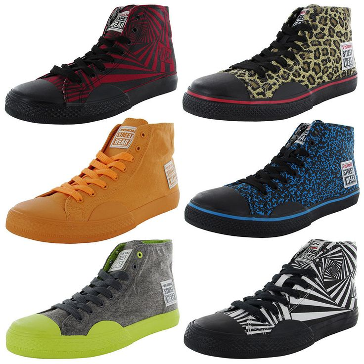 Vision Street Wear Mens Canvas Hi Fashion Skate Shoe #VisionStreetWear #Skateboarding
