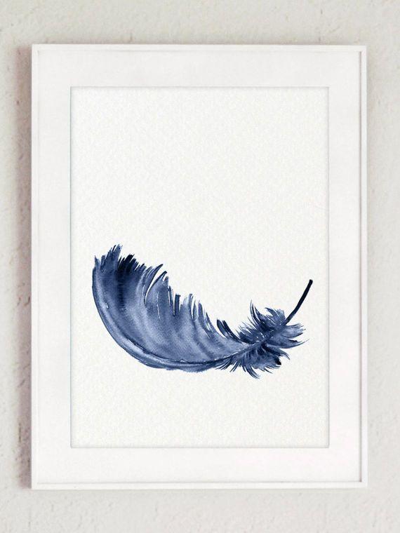 Bébé garçon pépinière mur idée déco cadeau moderne. Impression d'Art plumes bleues. Aquarelle de plumes Clipart lot de 3 Marine plume enfants chambre minimaliste moderne Illustrations. Un prix est pour l'ensemble des trois tirages d'Art plume bleu marine comme indiqué dans les photos. Type de papier : Imprime jusquà (42 x 29, 7cm) 11 x 16 pouces taille sont imprimées sur acide darchivage gratuit 270g/m2 blanc aquarelle Fine Art Paper et conserve laspect de la peinture originale. Plus gr...