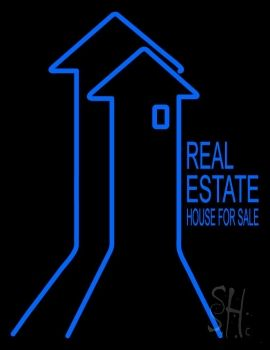 Real Estate House For Sale Neon Sign