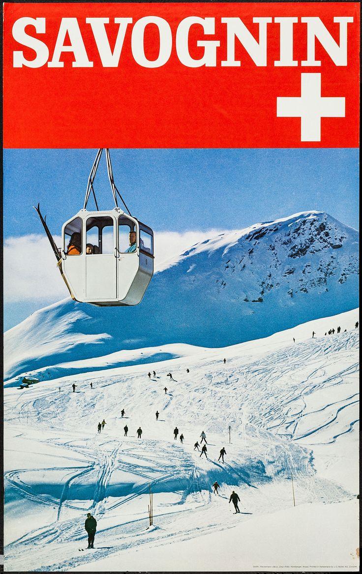 Savognin Travel Poster, Switzerland (1960s).