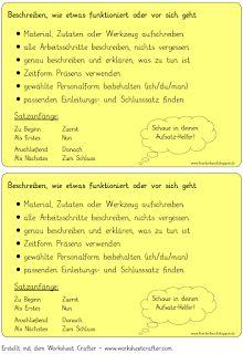 Checkliste zur Vorgangsbeschreibung