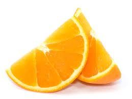 the texture inside the orange can be seen
