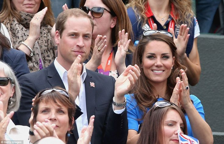 The young Royals both looked effortlessly smart in the Royal box today as they cheered Andy Murray on to victory. August 2, 2012