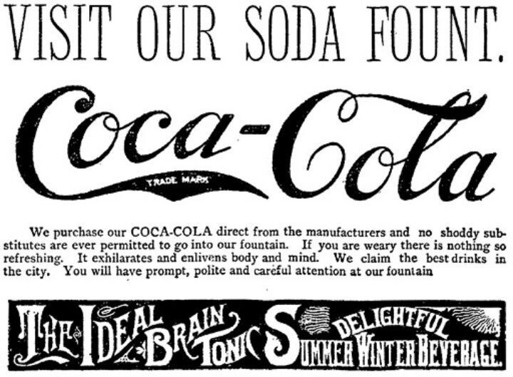 a coca cola advertisement from the 1890s Coca-cola amatil (aust) pty ltd is the authorised manufacturer and distributor of the coca-cola company's beverage brands in australia coca-cola south pacific pty ltd is an indirect wholly.