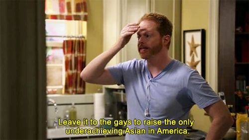 """""""Leave it to the gays"""" lol Modern Family"""