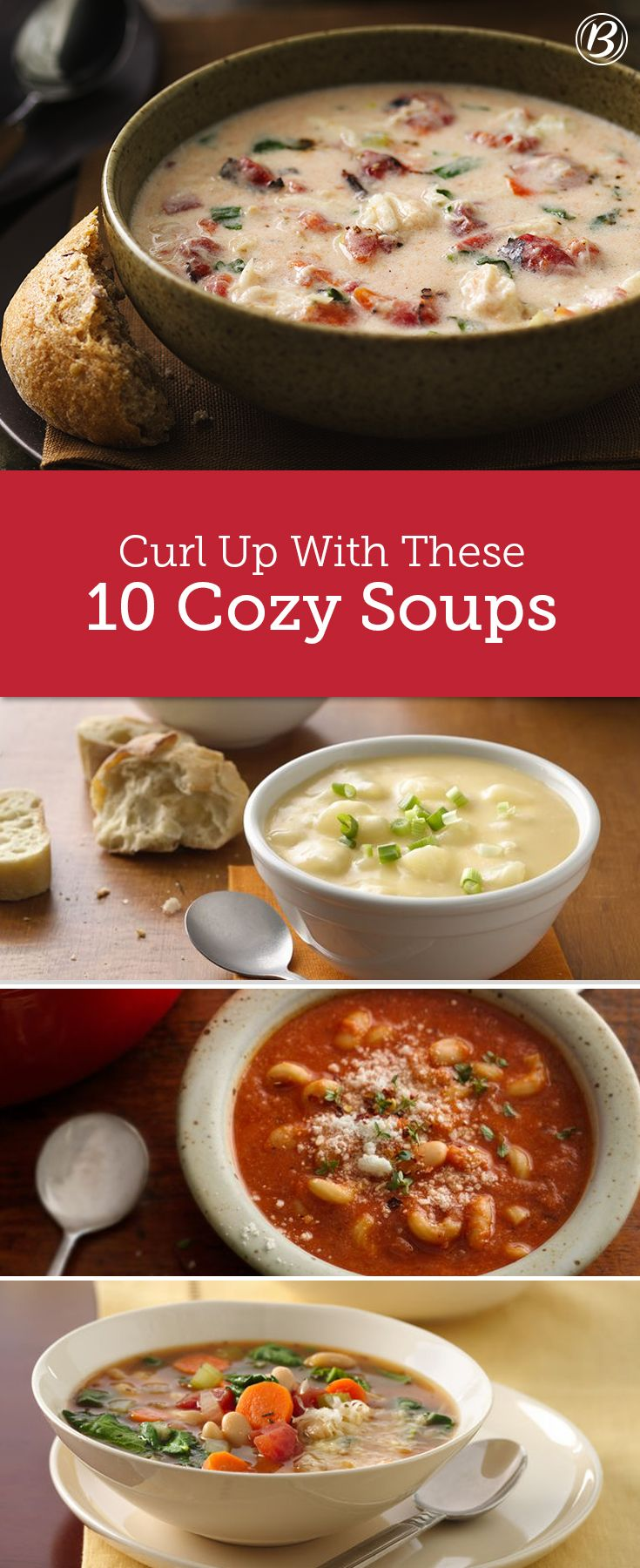 It's the perfect time of year for a cozy soup and these recipes are the absolute best! From slow-cooker recipes to must-try chilis, you'll want to curl up with a bowl for dinner every night of the week.