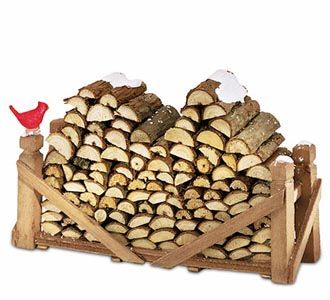 Miniature Wooden Log Pile