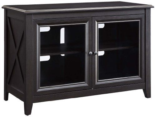 Highboy TV console provides a slightly higher platform for flat panel display which is ideal for use in bedrooms for comfortable viewing in bed. #Console constru...