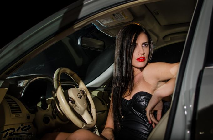 Model black dress car  Photo by Razvan Oprea  https://www.facebook.com/RazvanOpreaPhoto?fref=photo