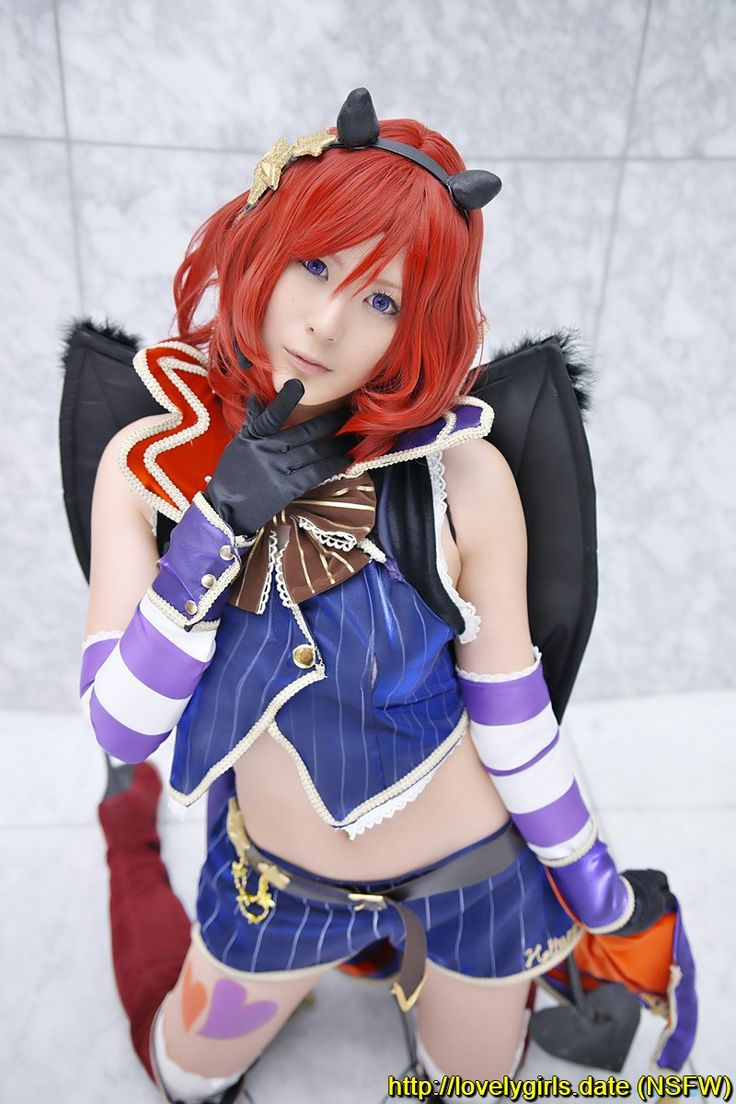 #Boots, #Cape, #Cosplay, #DetachedSleeves, #FurumiyaSui, #Gloves, #Horns, #LoveLiveSchoolIdolProject, #NishikinoMaki, #RedHair, #Shorts, #Tail, #ThighBoots, #Thighhighs, #Vest, #Wings