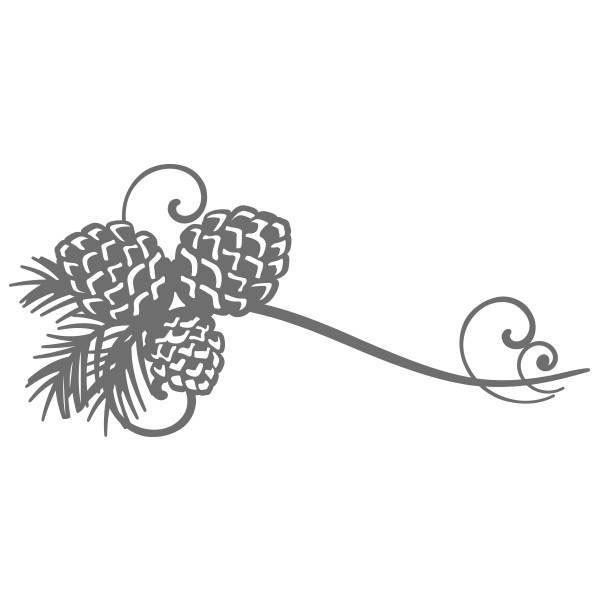 Ultimate Crafts Evita Collection Dies Pinecone Flourish ULT157173 - Craftie Cafe l Scrapbooking, Cardmaking, Papercrafting Supplies - Australia