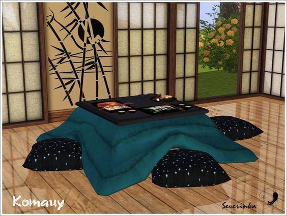 Japanese Kotatsu Table At Sims By Severinka