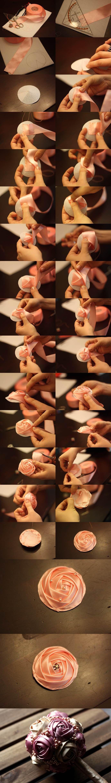 Wedding DIY - Satin Ribbon Rose Bouquet 2
