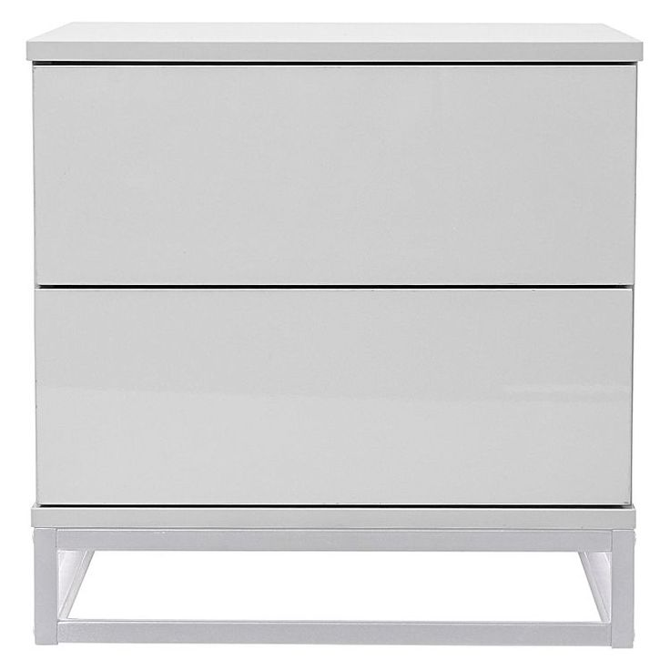Contrast your existing colour palette with the minimalist design of the Kasey Bedside Table, White from Emma's Design.