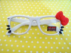 Hello Kitty glasses: Halloween Costume, Kitty Glasses, Color Glasses, Stuff, Funnies Things, Gifts Idea, Big Bows, Sunglasses, Hello Kitty