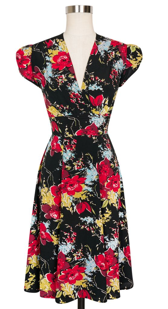 The classic Trashy Diva Ashley Dress is perfect for any occasion in the new Forget Me Not Floral!