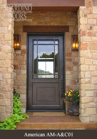 American wrought iron door designs