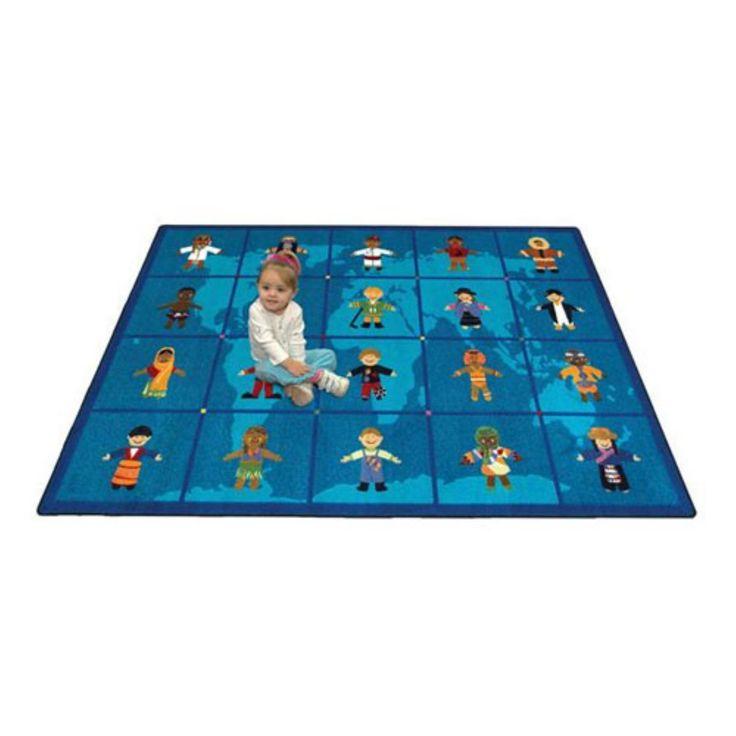 Joy Carpets Reach Across the World Kids Area Rug - 1546-C