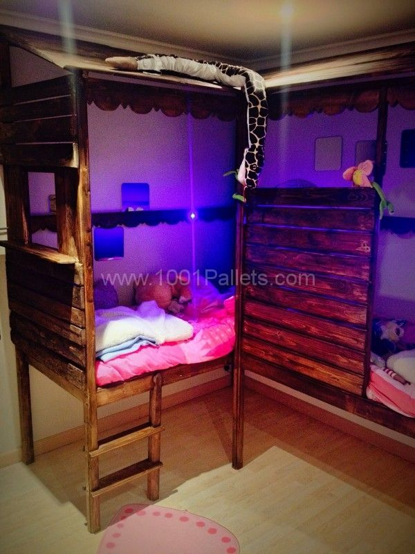 Pallet Twins Beds  cool stuff  Pallet twin beds Pallet beds Bed